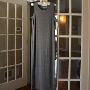 Athleta Gaia Tee Dress grey